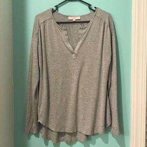 Loft Gray jersey shirt